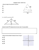 Pythagorean Theorem --PARCC review questions
