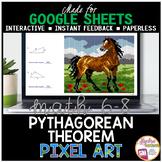 Google Sheets Digital Pixel Art Math Pythagorean Theorem