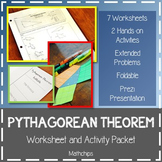 PYTHAGOREAN THEOREM Worksheet and Activity Packet