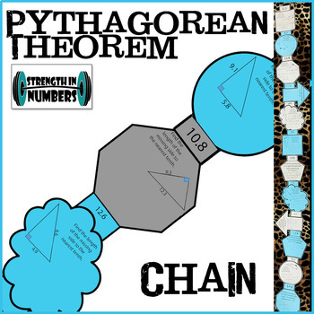 Pythagorean Theorem Paper Chain Practice for Display