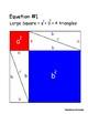Pythagorean Theorem - Origami Paper Proof
