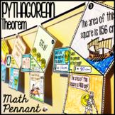 Pythagorean Theorem Math Pennant