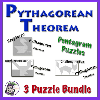 Pythagorean Theorem Pentagram Puzzle Bundle