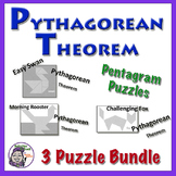 Pythagorean Theorem Pentagram Puzzle Bundle