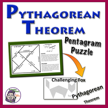Pythagorean Theorem Pentagram Puzzle - Challenging Fox