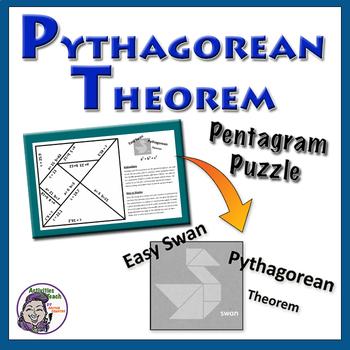 Pythagorean Theorem Pentagram Puzzle - Easy Swan