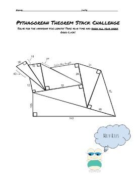 Pythagorean Theorem Pile Up