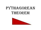 Pythagorean Theorem Power Point Presentation by Mark Robuck