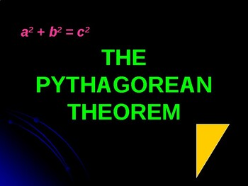 Pythagorean Theorem PowerPoint Lesson