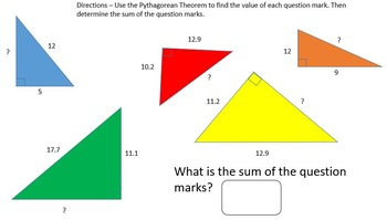 Pythagorean Theorem - PowerPoint Lesson and Printables!
