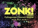 Pythagorean Theorem Powerpoint ZONK Review Game Show for Common Core