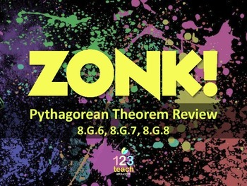 Pythagorean Theorem Powerpoint ZONK Review Game Show for C