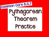 Pythagorean Theorem Practice Flipchart - 8.G.7