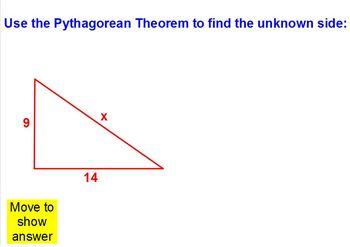 Pythagorean Theorem Practice Flipchart - 8.G.7