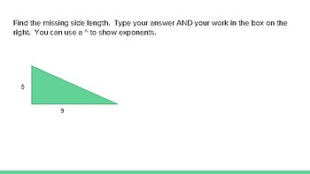 Pythagorean Theorem Practice Slides