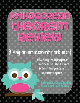 Pythagorean Theorem Practice {using an amusement park map}