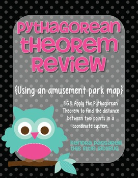 Pythagorean Theorem Practice {using an amusement park map}