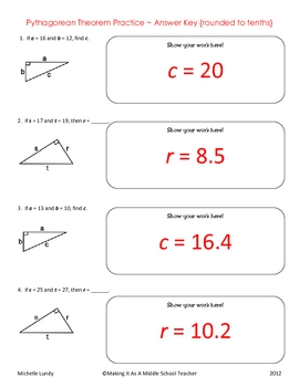 Pythagorean Theorem GEOMETRY Worksheet by Pecktabo Math | TpT
