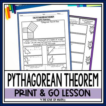 Pythagorean Theorem Print and Go