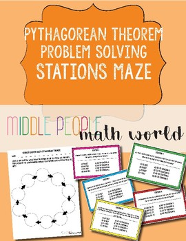 Pythagorean Theorem Problem Solving Stations Maze