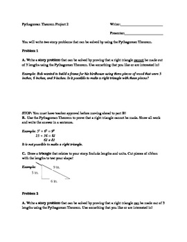 Pythagorean Theorem Project 3