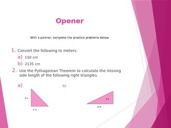 Pythagorean Theorem Project PowerPoint