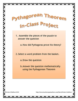 Pythagorean Theorem Project, Practical Problem Activity