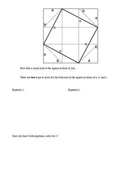 Pythagorean Theorem Proof Activity