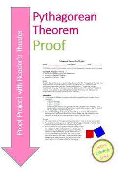 Pythagorean Theorem Proof - Complete Lesson Plan - Project etc.