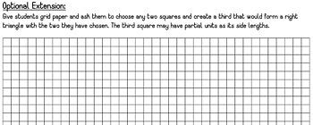 Pythagorean Theorem Proof: Squares Manipulative Activity
