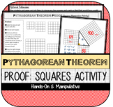 Pythagorean Theorem Proof: Squares Manipulative Activity