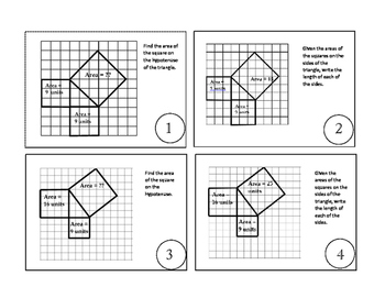 Pythagorean Theorem Proof Task Cards