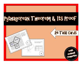 Pythagorean Theorem Proof Task Cards