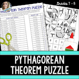Pythagorean Theorem Puzzle: 8.G.7