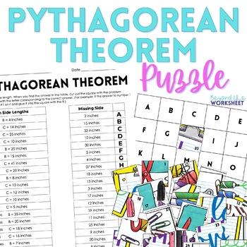Pythagorean Theorem Puzzle: 8.G.7