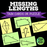 Pythagorean Theorem, Task Cards or Worksheet