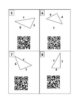Pythagorean Theorem QR Code Practice