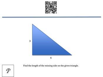Pythagorean Theorem QR Code Scavenger Hunt