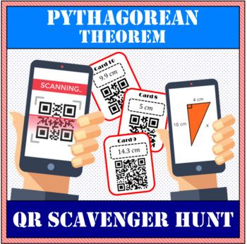 Pythagorean Theorem QR scavenger hunt