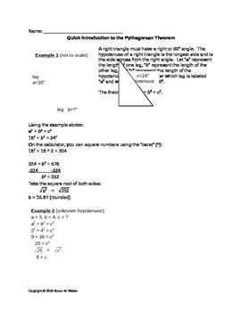 Pythagorean Theorem - Quick Introduction & Examples