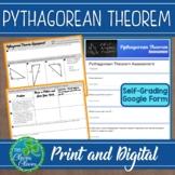 Pythagorean Theorem Quiz - 8.G.B.7