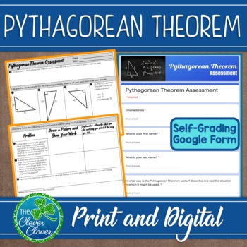 Pythagorean Theorem Quiz - 8.G.B.7