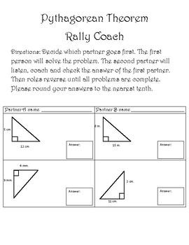 Pythagorean Theorem Rally Coach