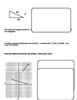 Pythagorean Theorem Review