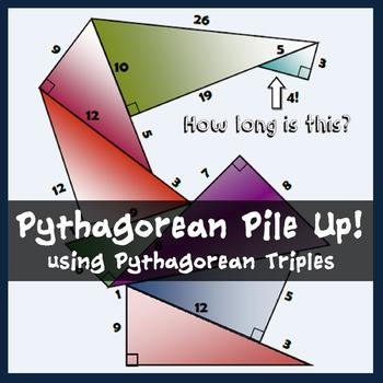 Pythagorean Theorem Pile-Up Review Worksheet