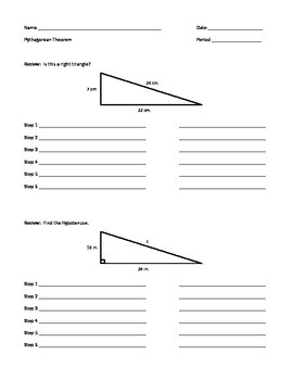 Pythagorean Theorem Review / Guided Notes