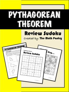 Pythagorean Theorem - Review Sudoku
