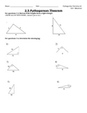 Pythagorean Theorem SLO Test #2