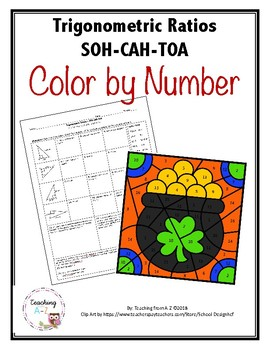 Pythagorean Theorem & SOH-CAH-TOA St. Patrick's Themed Color by Code Activity