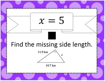 Pythagorean Theorem Scavenger Hunt SOL 8.10